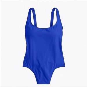 J. Crew Plunging Scoopback One Piece Swimsuit Sz 6